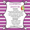 Kindergarten Session B Program 5