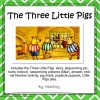 The Three Little Pigs Sequencing Activity and Play:19 pages
