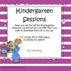 KINDERGARTEN SESSIONS A, B & C ALL IN ONE FILE