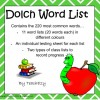 Dolch Word List: 21 pages