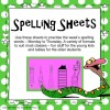 Spelling sheets