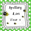 Spelling List Year 1