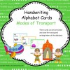 Handwriting Cards - Modes of Transport: 27 pages