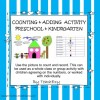 Counting and Adding Activity Preschool and Kindergarten