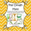 Play Dough Mats - Preschool/Kindergarten: 14 mats