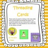 Threading Cards - Preschool and Kindergarten