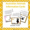 Australian Animals Information Cards: 27 pages