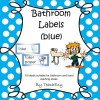 Bathroom Labels Blue: 8 pages
