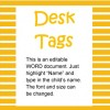 Desk Tags Modes of Transport