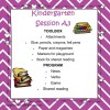 Kindergarten Session A Program 3