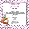 Kindergarten Session A Program 4