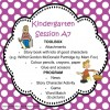 Kindergarten Session A Program 7