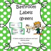 Bathroom Labels Green: 8 pages
