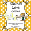 Bathroom Labels Yellow: 8 pages