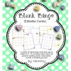 Bingo Cards (Editable) Dots and Leaves