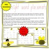 Sight Word Placemats Sample