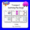 Play Dough Mats - Modes of Transport Subitising