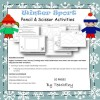 Winter Sport Handwriting Worksheets and Cutting Activities