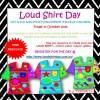 Loud Shirt Day Resource - FREE