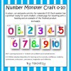 Monster Number Craft Teaching Resource 1-10