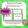 Australian Animals Award Certificates