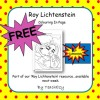 Roy Lichtenstein Freebie Colouring Page