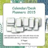Desk Calendars and Planners 2015 A3 size