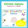 Kindergarten Diploma Editable (by request)