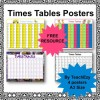 Times Tables Posters - A3 size