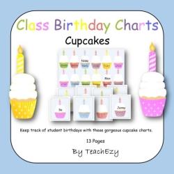 Cup Cake Birthday Charts