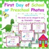 First Day of School or Preschool Photo Posters