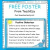 Positive Behaviour Poster FREE