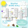 Weather Word Wall FREE