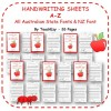 Handwriting Worksheets A to Z in Australian & NZ Fonts