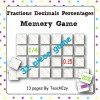 Fractions Decimals Percentages Memory Game