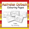 Australian Outback Colouring Pages