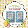 Easter Pop Up Chicken Free Craft