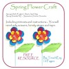 Spring Flower Craft Activity