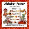 Alphabet Poster Australian Theme