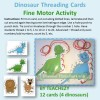 Fine Motor Dinosaur Threading Cards