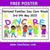 National Day Care Week FREE Poster