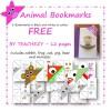 Animal Bookmarks FREE Resource