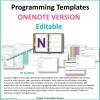 Programming Templates ONENOTE resource