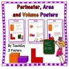 Perimeter Area  and Volume  Posters