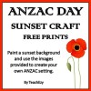 ANZAC Day Sunset or Sunrise Craft Free