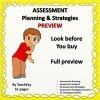 Assessment Planning and Strategies PREVIEW ONLY