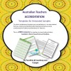 Accreditation Templates Annotated Samples Australian Teachers