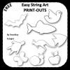 Easy String Art Printouts