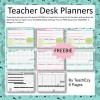 Teacher Desk Planners FREE