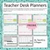 Teacher Desk Planners FREE